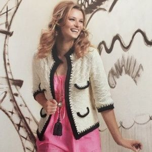 CABI Socialite Knit Sweater Open Front Cardigan Me